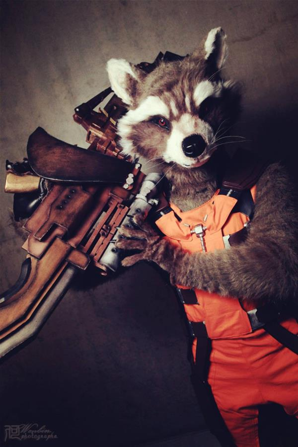 Impressive Rocket Raccoon Cospaly From Guardians Of The