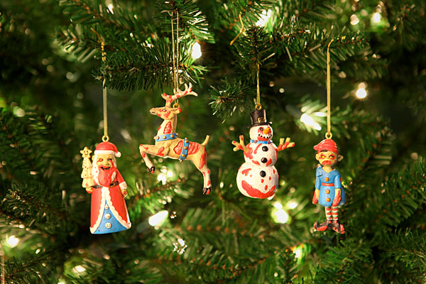 To spread some of that Christmas fear, head over to Think Geek to purchase  the 4 piece set, which sells for $19.99. - Zombie Christmas Ornaments €� GeekTyrant