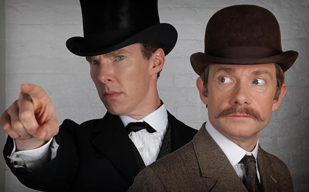 benedict-cumberbatch-and-martin-freeman-teases-sherlock-special-in-photo