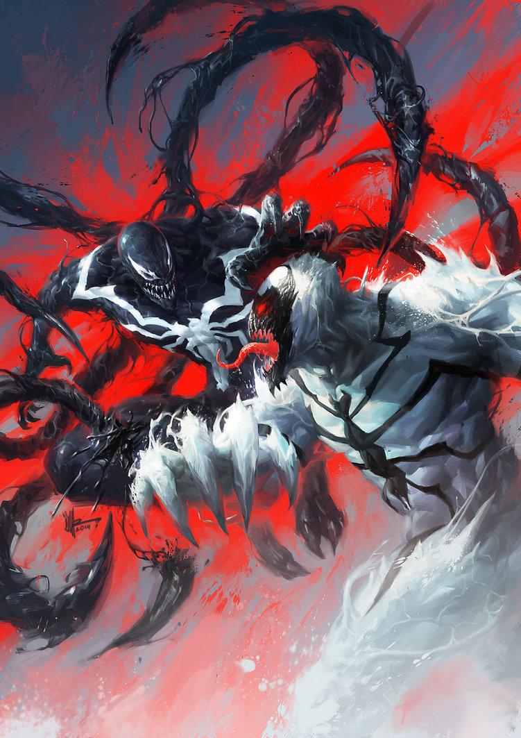 Venom Vs. Anti-Venom in Fan Art by Isuardi Therianto ...