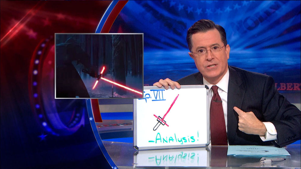 stephen-colbert-analyzes-lightsaber-in-star-wars-the-froce-awakens-trailer