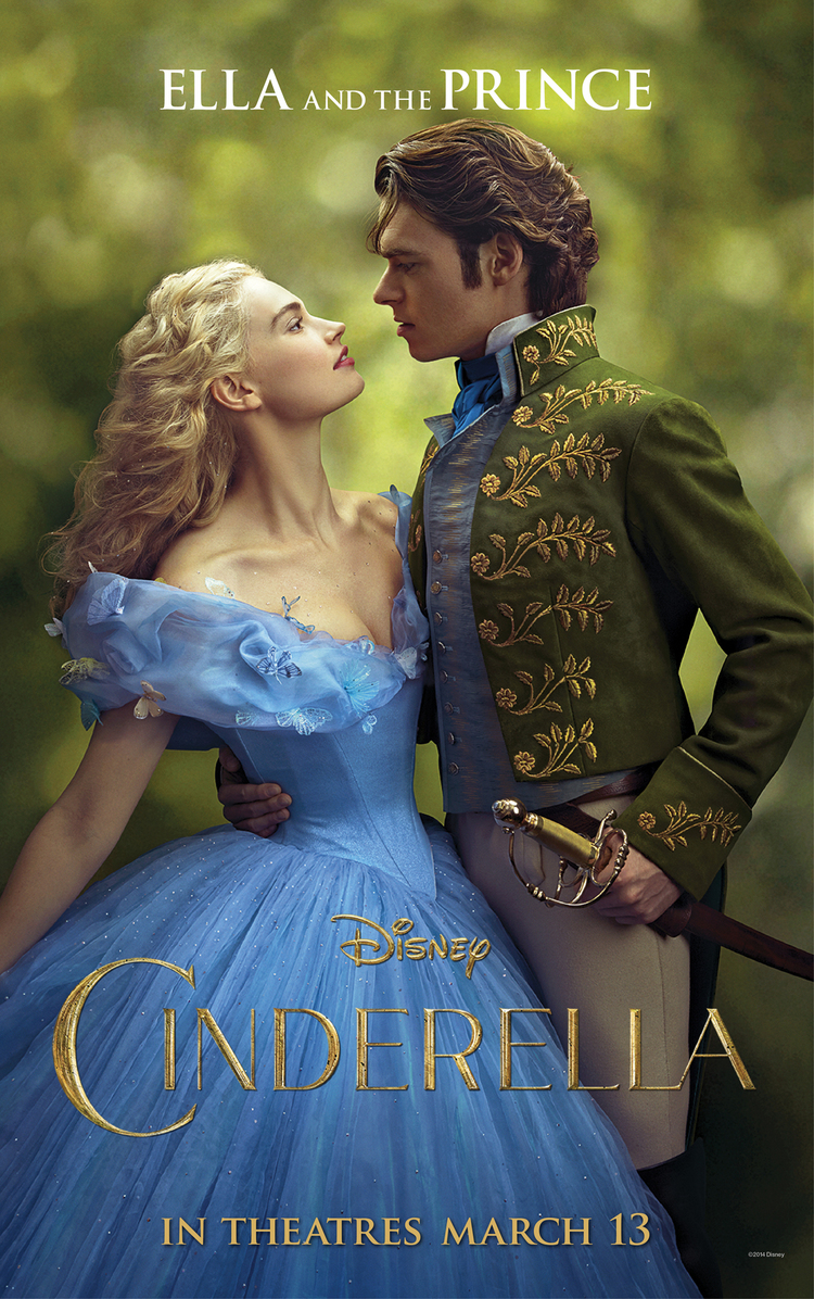 New Cinderella Posters With Fairy Godmother And Prince