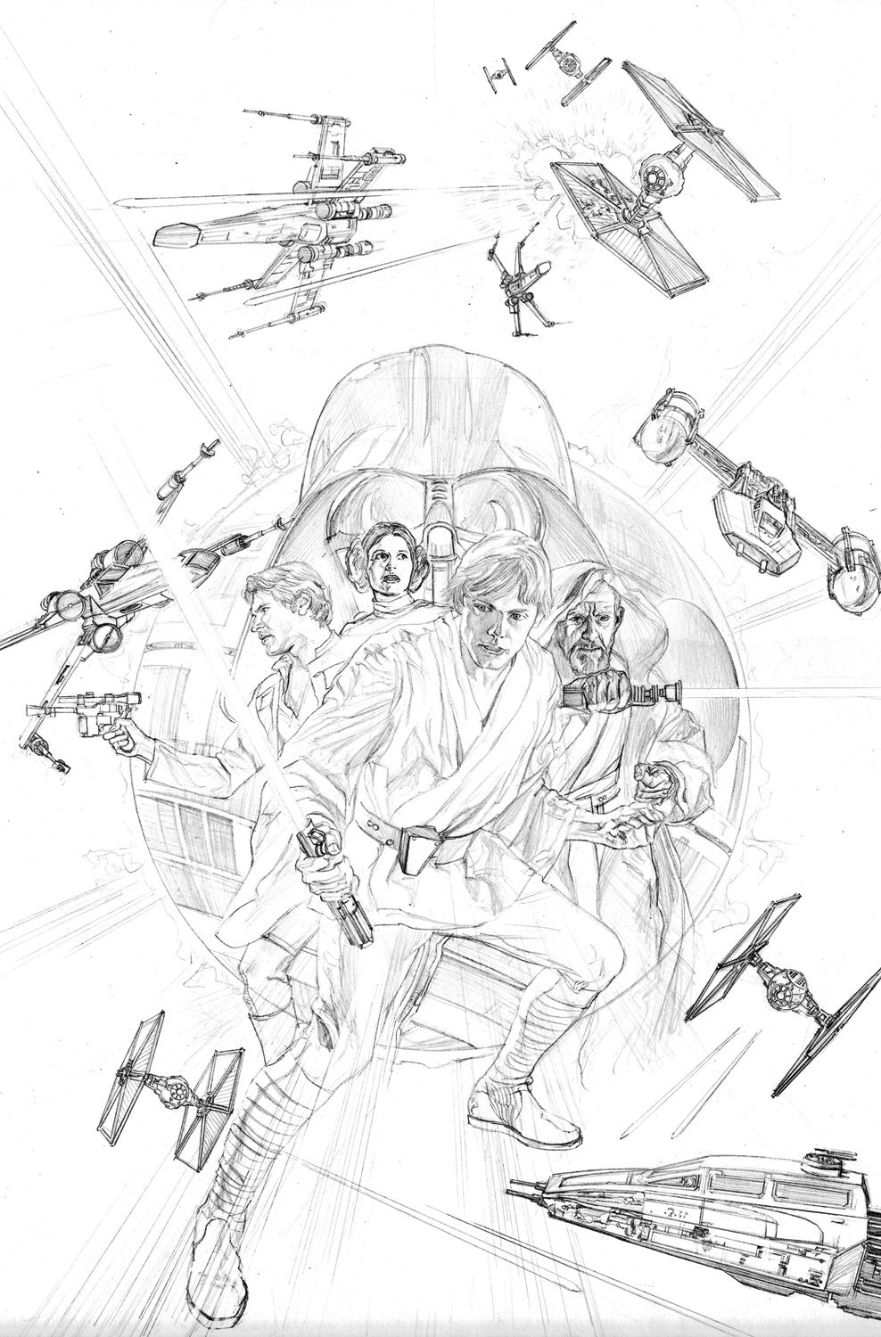 30 pieces of variant cover art for marvels star wars 1