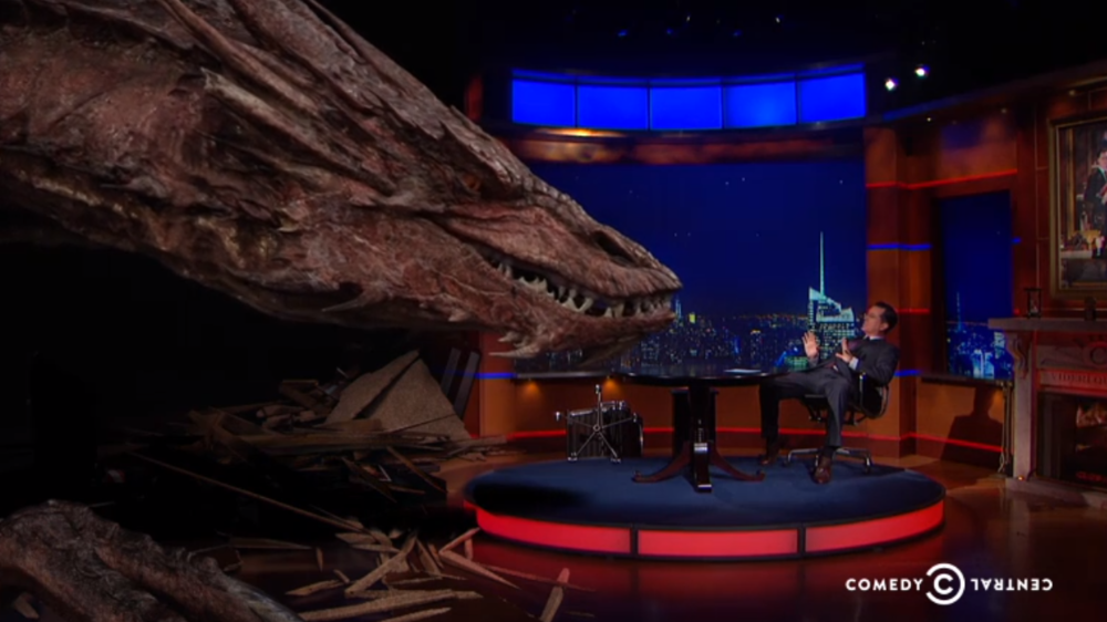 stephen-colbert-interviews-smaug-from-the-hobbit
