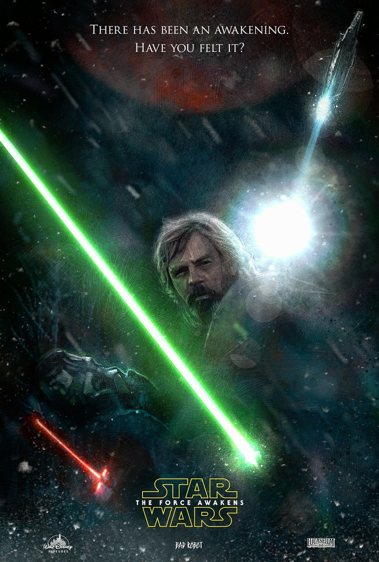 stunning star wars: the force awakens poster art by paul shipper