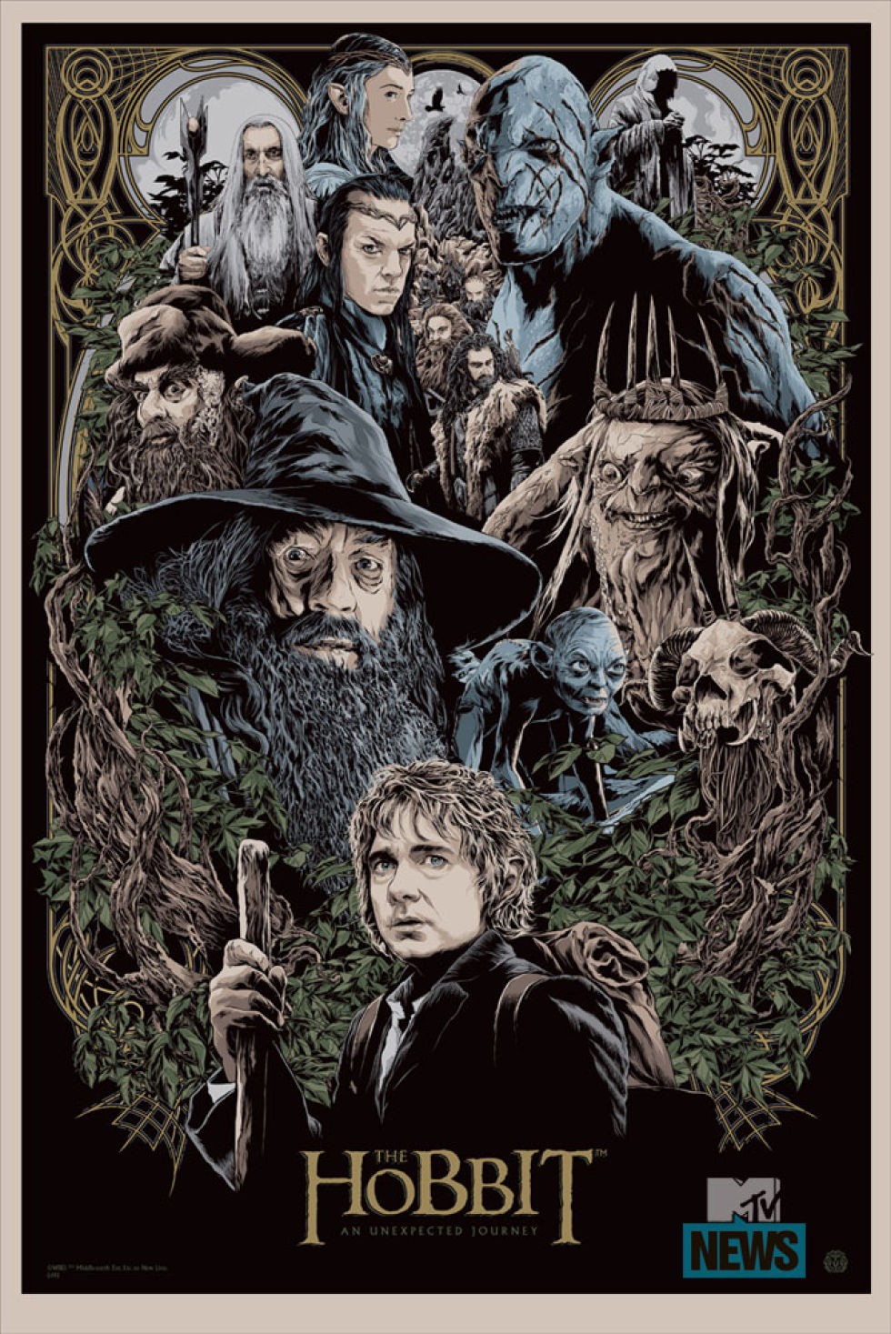 Mondo Poster Art Series for THE HOBBIT by Ken Taylor and ...