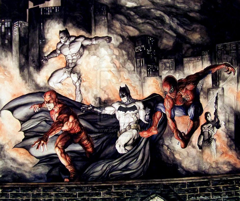 the-dark-knight-meets-the-marvel-knights-in-fan-art