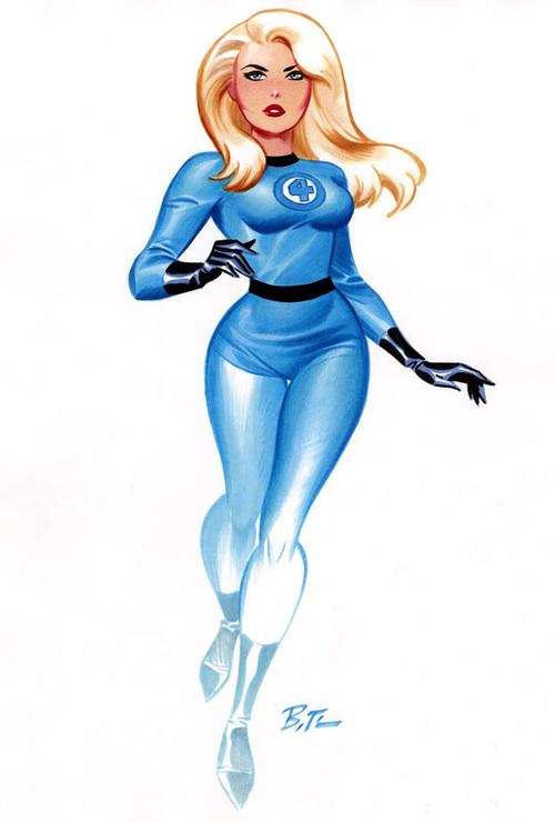 Marvel: Bruce Timm en Marvel. Bruce-Timm-Sue-Storm