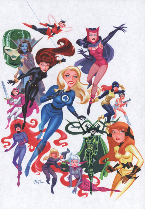 Marvel: Bruce Timm en Marvel. Women_of_Marvel_%28by_Bruce_Timm%29