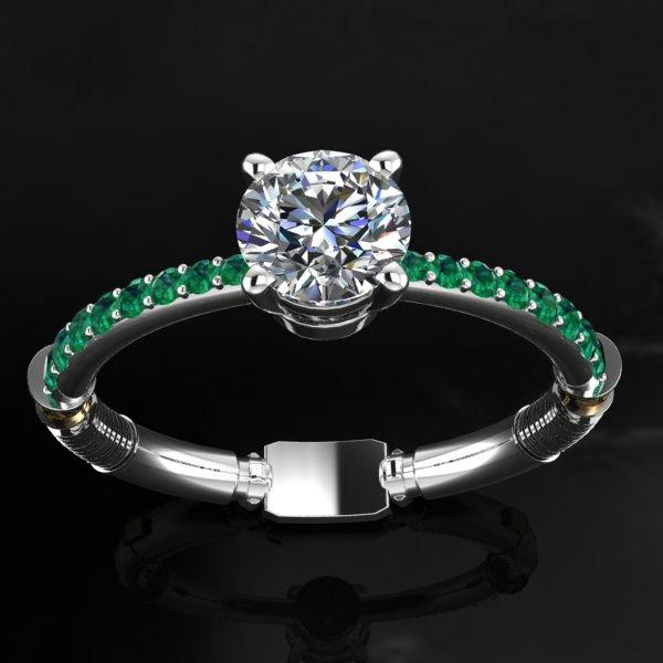 Star Wars Wedding Rings: STAR WARS Inspired Lightsaber Engagement Ring