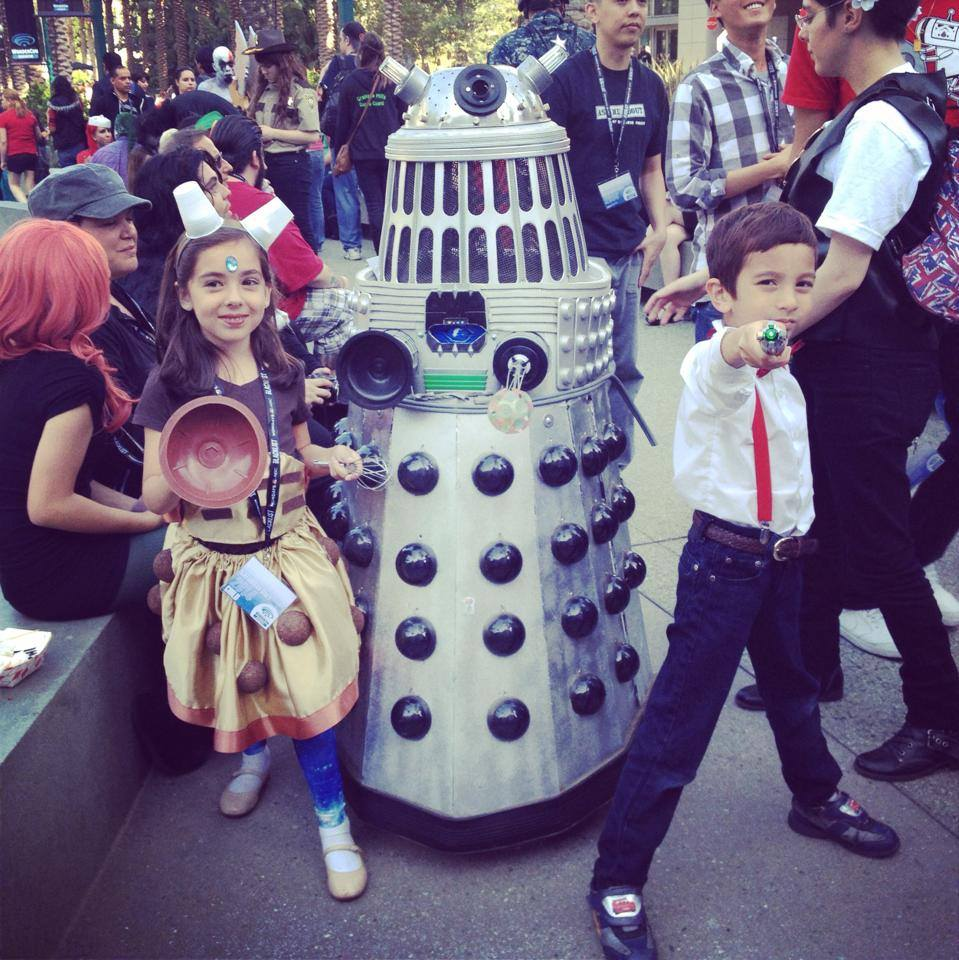 Dalek Girl and Doctor Eleven Cosplay — Source:  Geek Mom