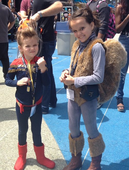Captain Marvel and Squirrel Girl   — Source:   Geek Mom
