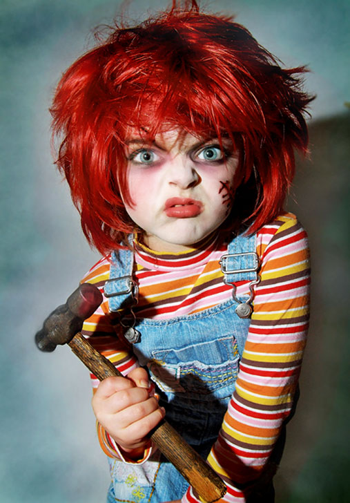 Chucky Cosplay by Mercy — Photo by  Harpyimages/Shanea   — Via:  Fashionably Geek