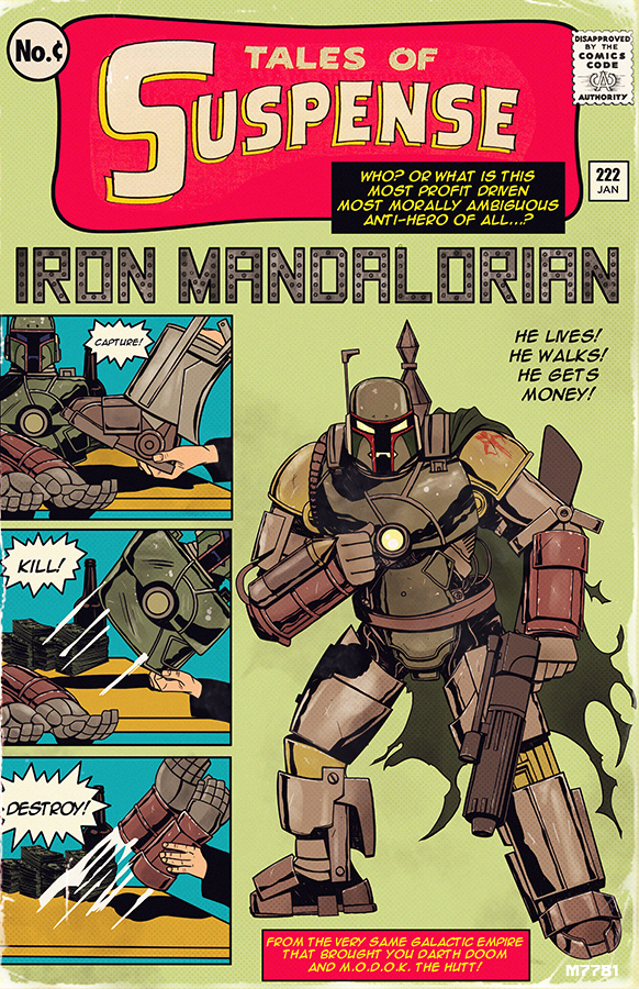 "Iron Man and Boba Fett TALES OF SUSPENSE Art - ""Iron ..."