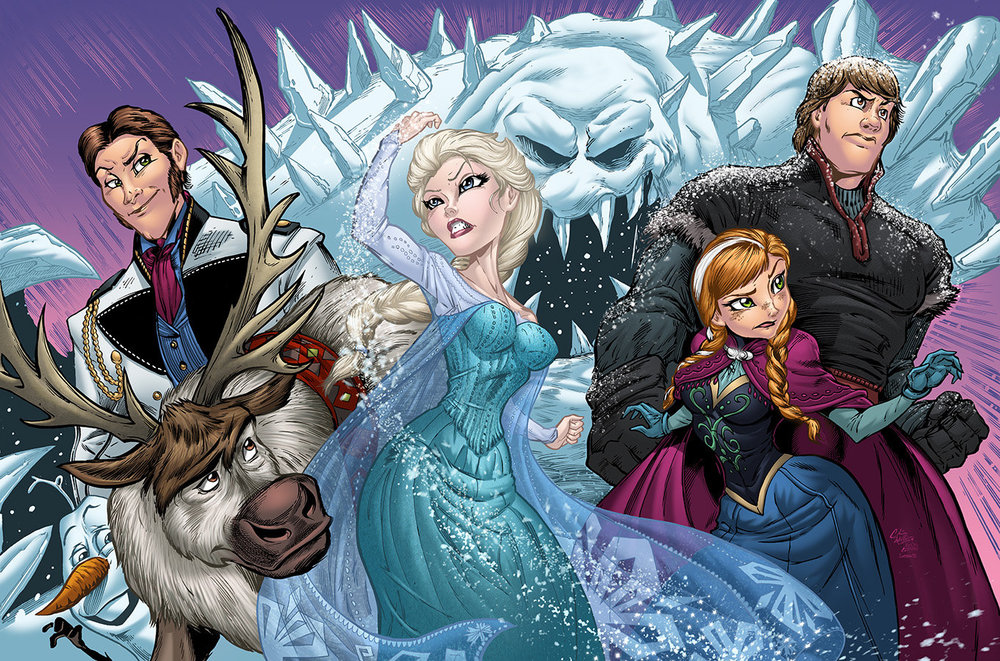 Comic Book Style Frozen Fan Art Geektyrant