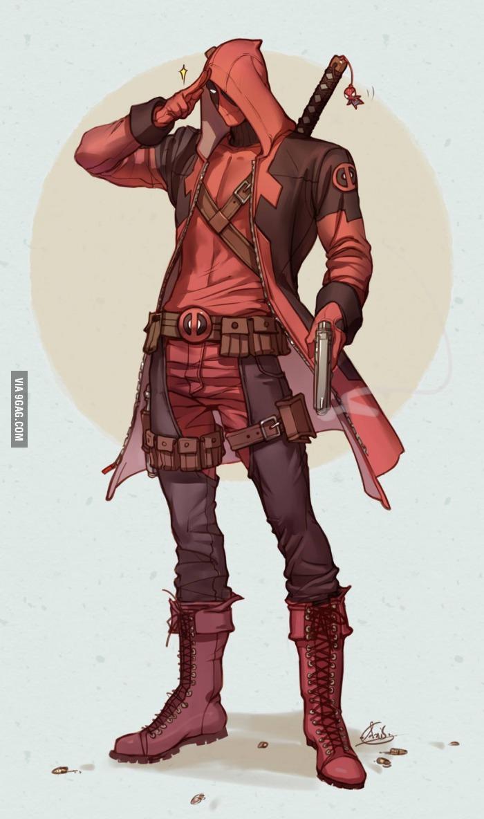 Deadpool And Assassin S Creed Mashup Art Geektyrant