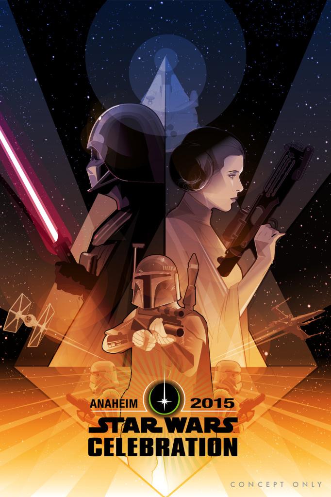 Star Wars Celebration 2015 Promo Art By Craig Drake