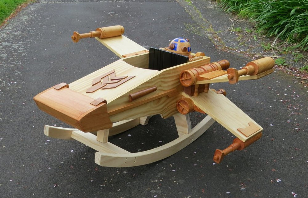 The Force Is Strong With This X Wing Baby Rocker