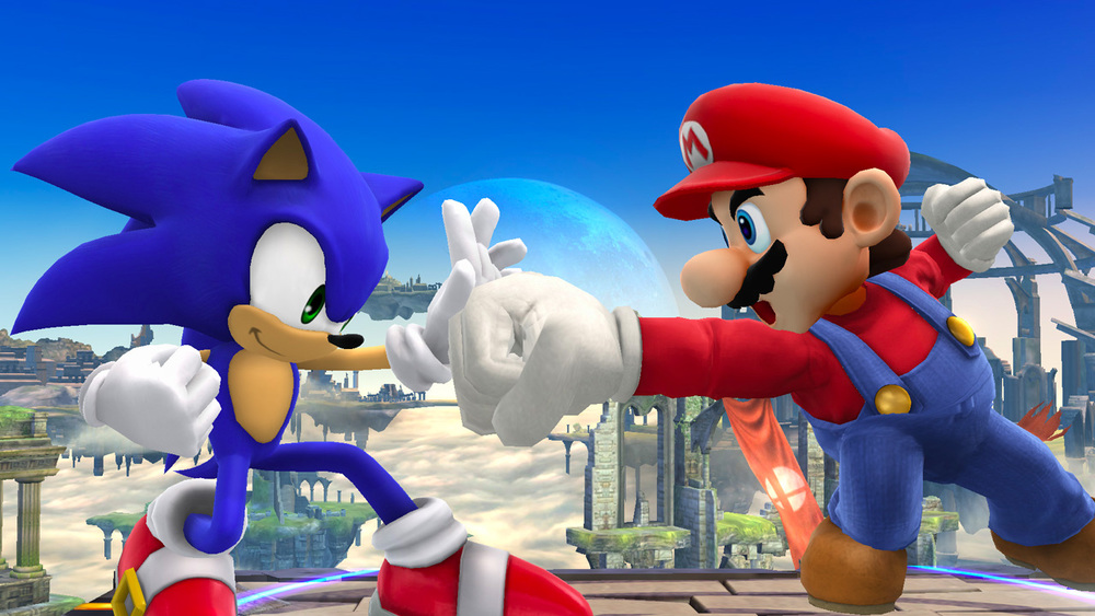 Link Vs Mario Brawl It's Sonic vs. Mario i...