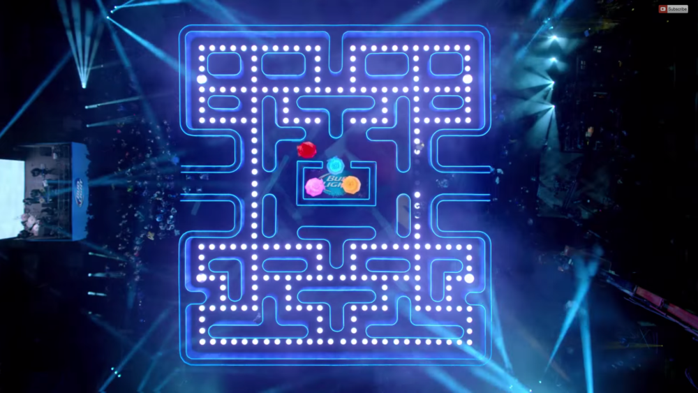Real Life Pac Man Bud Light Superbowl Commercial