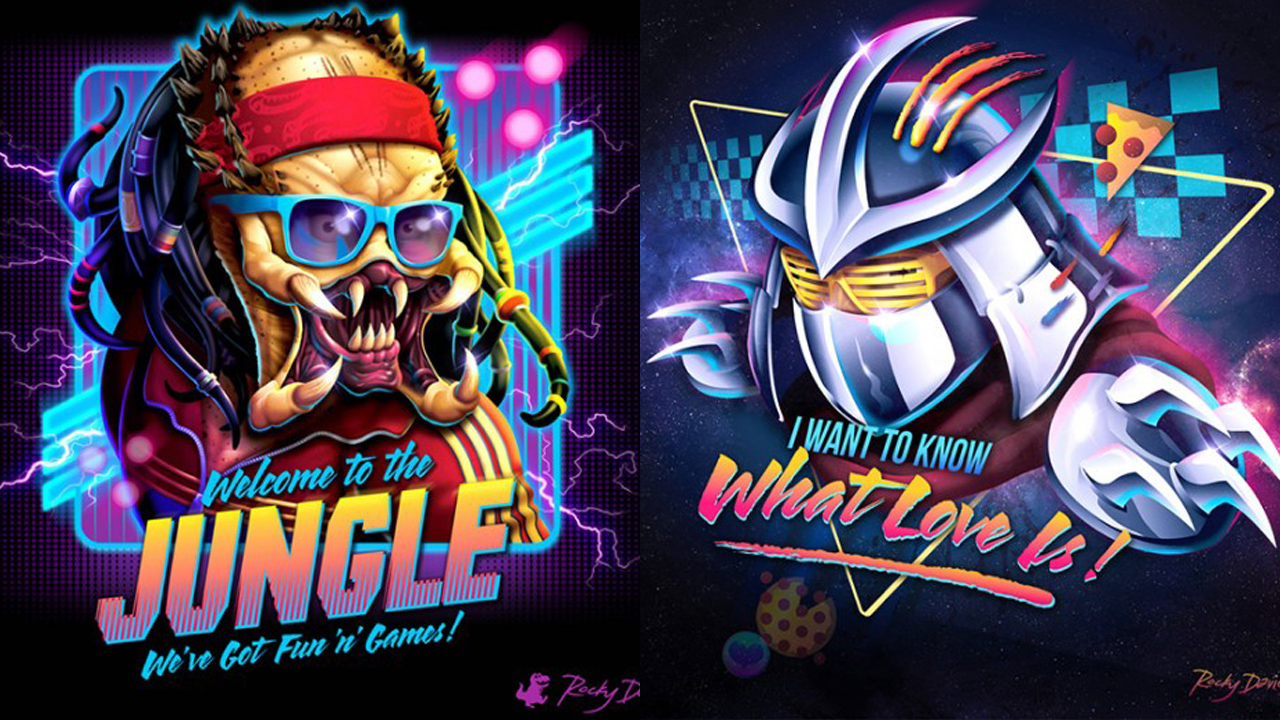 more 80s style album covers featuring iconic 80s movie villains