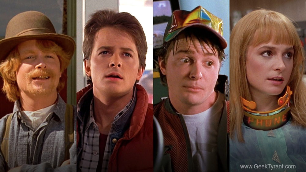 Back to the Future characters played by Michael J Fox