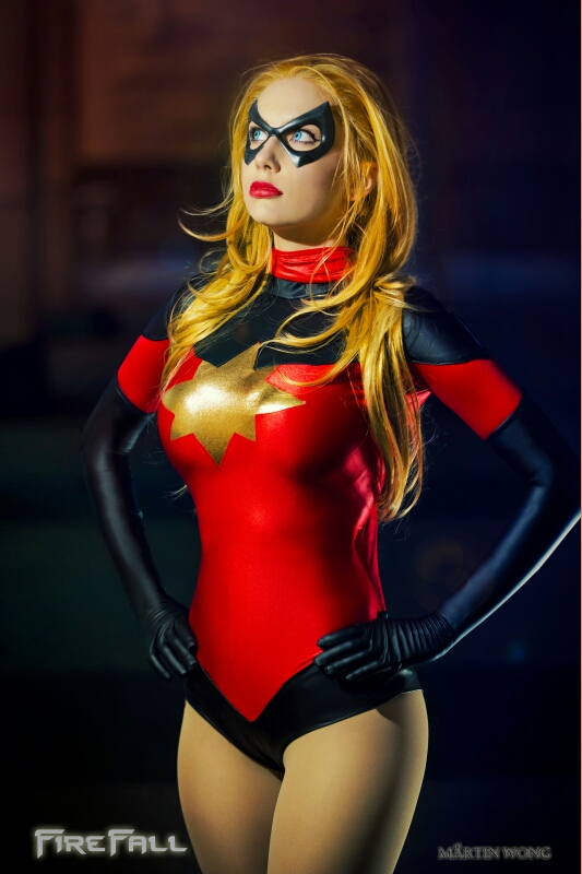 Crystal Graziano  is Captain Marvel — Photo by  Martin Wong