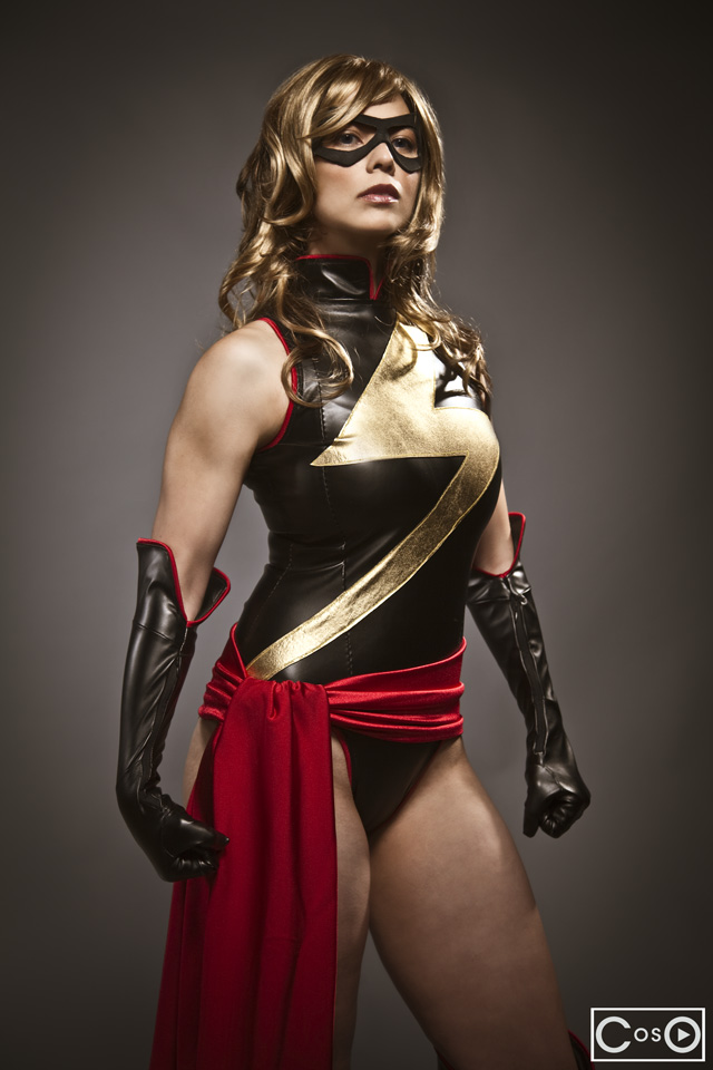Margie Cox  is Ms. Marvel — Photo my  AMP