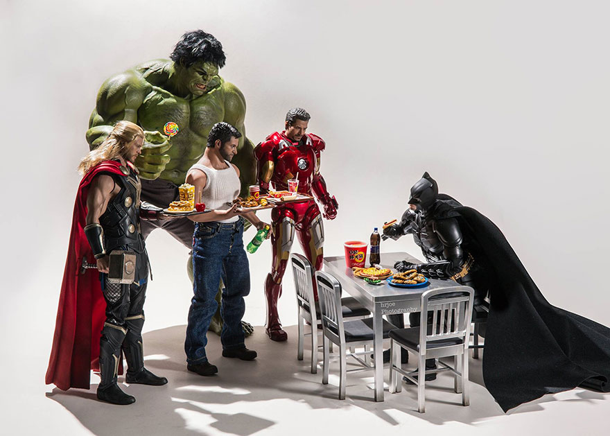Amusing Secret Lives Of Superheroes With Hot Toys Action Figures