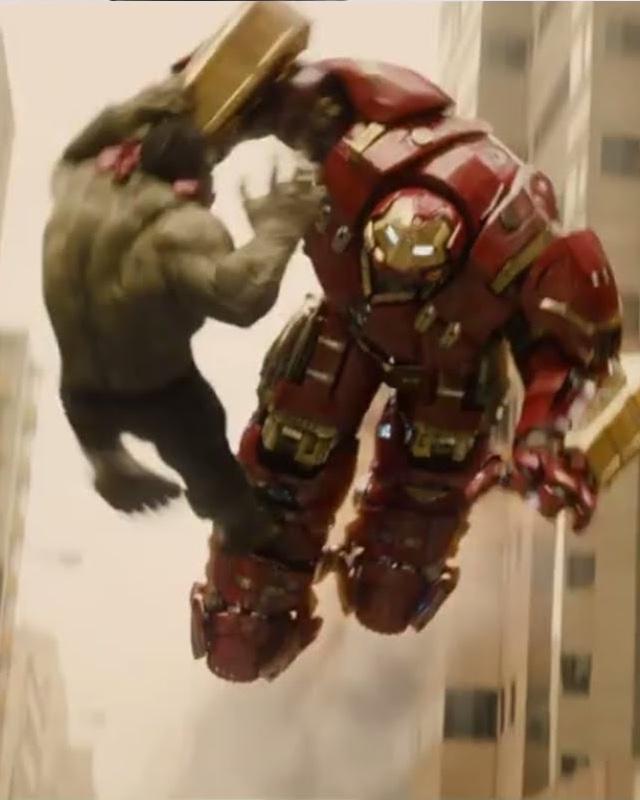 hulkbuster vs hulk fight scene description in avengers