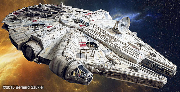 unbelievably accurate paper model of the millennium falcon geektyrant. Black Bedroom Furniture Sets. Home Design Ideas