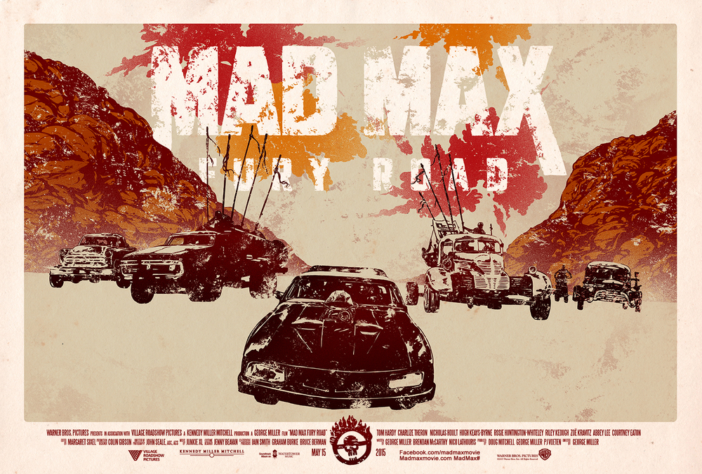 Mad max: fury road poster art collection from poster posse u2014 geektyrant