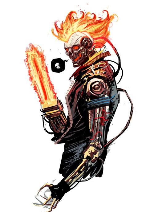 Random Thoughts: The Randoming Ghost-rider-2099-fan-art-by-dan-mora?format=500w