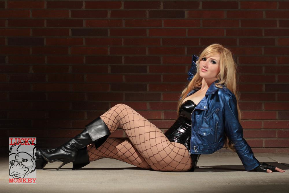 Holly Brooke is Black Canary | Photography by Lucky Monkey