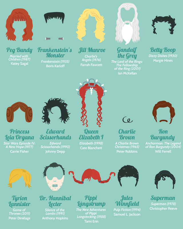 Infographic Iconic Movie And Tv Show Hairstyles Geektyrant