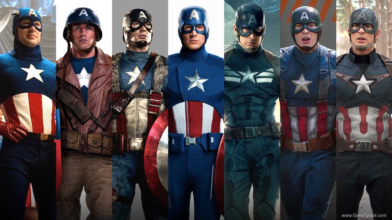 Image result for captain america all uniform