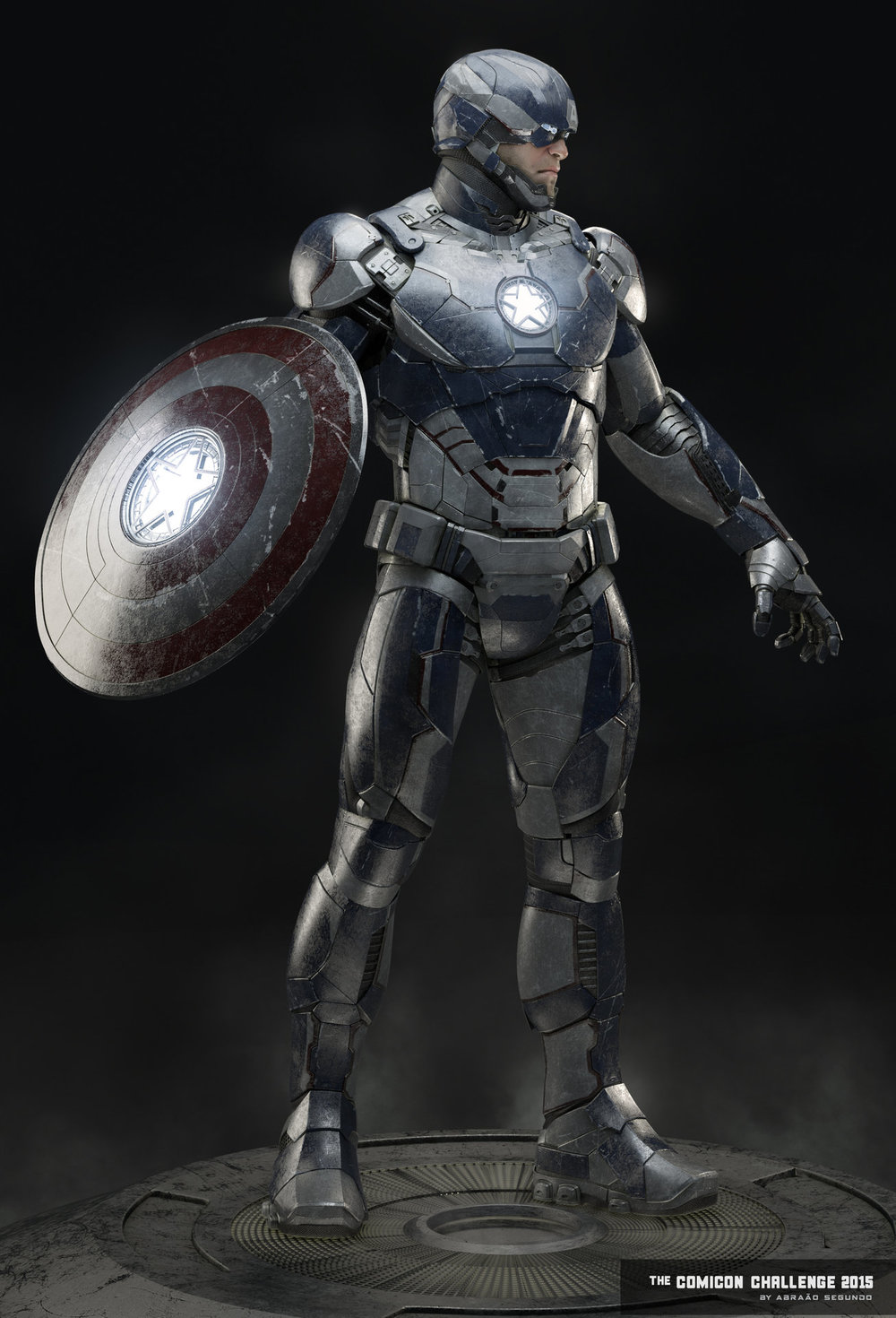 Captain america wears iron man style armor quot captain iron