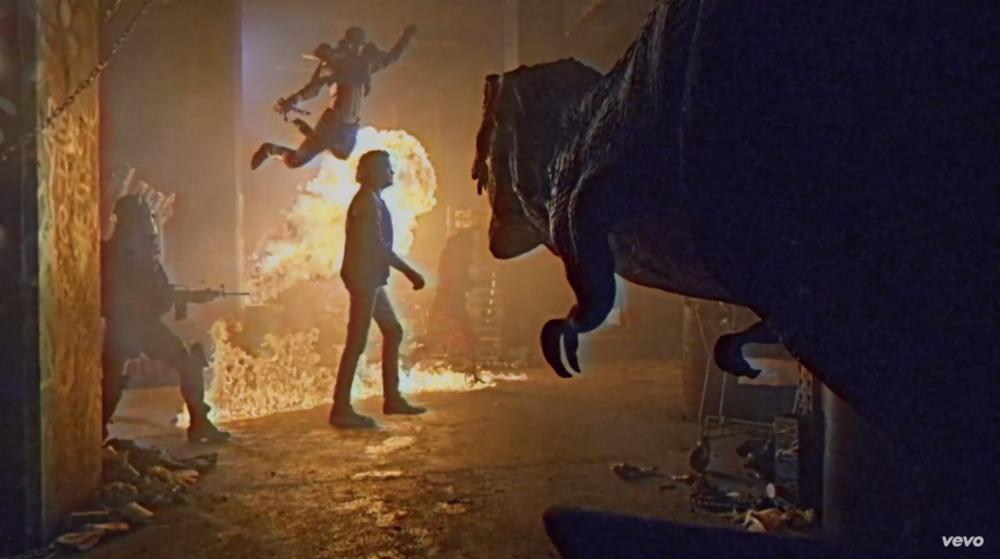 david-hasselhoff-rides-a-t-rex-in-his-true-survivor-music-video