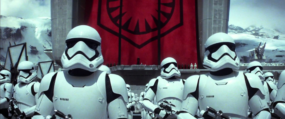 The First Order Stormtroopers look so cool.