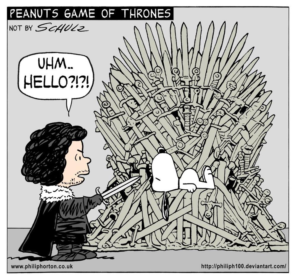 Funny Peanuts Game Of Thrones Mashup Comic Art Set
