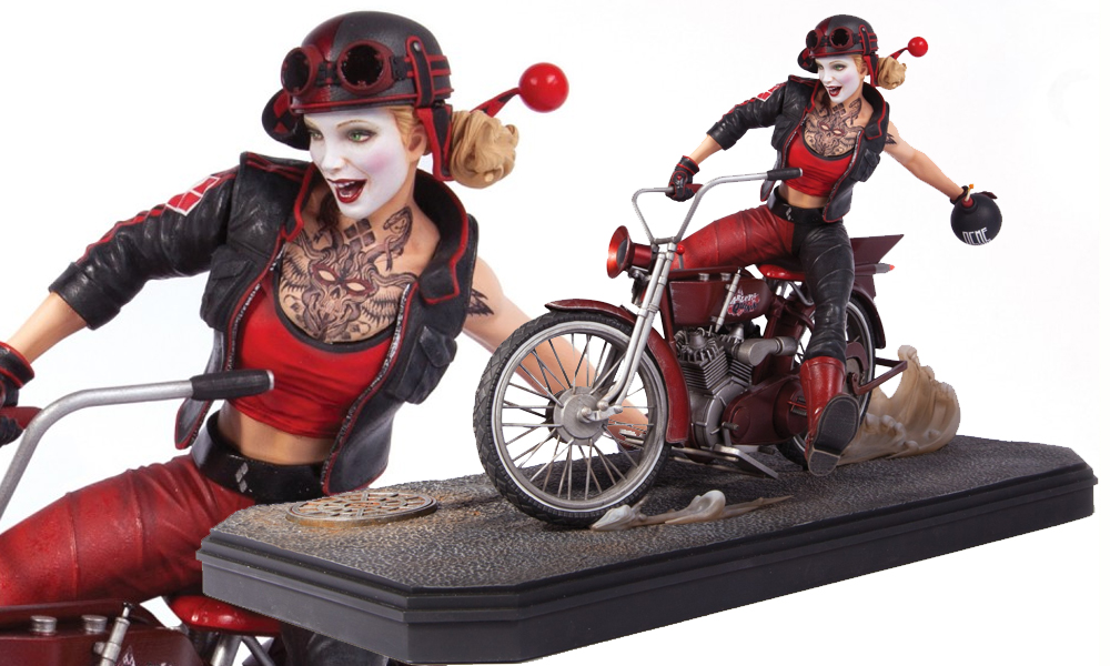 Harley Quinn Rides A Motorcycle In Quot Gotham City Garage