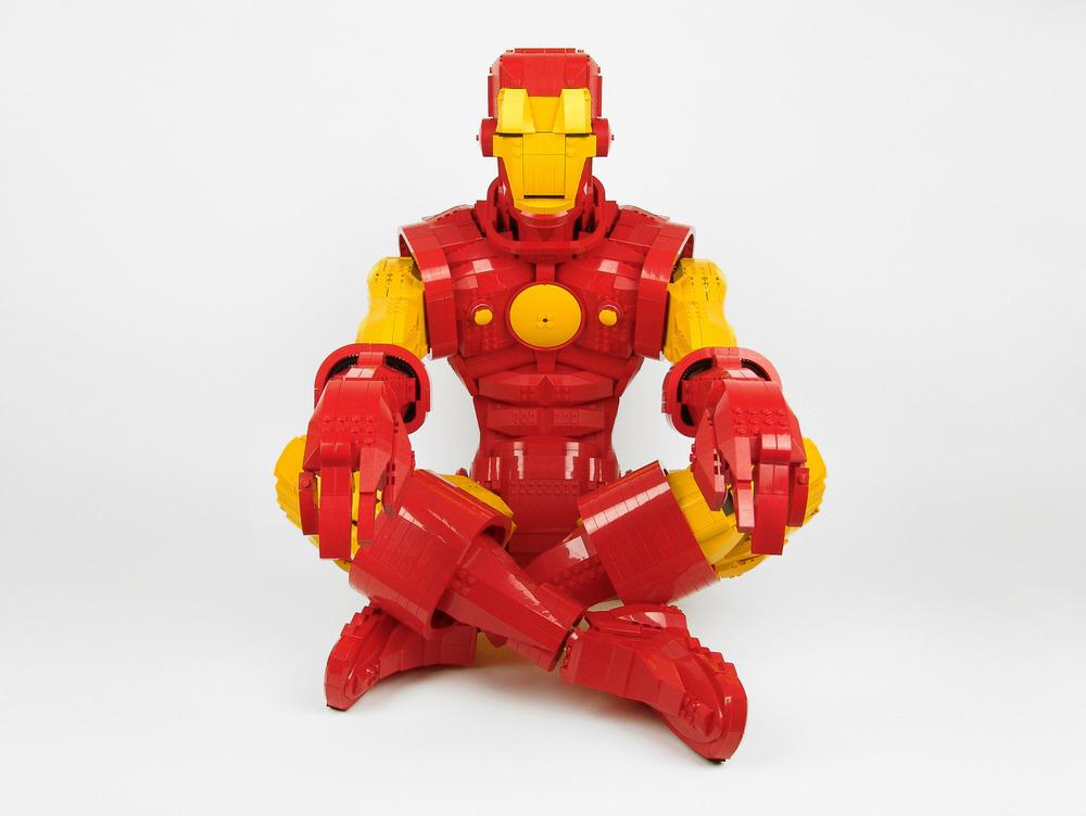 Meditating LEGO Iron Man