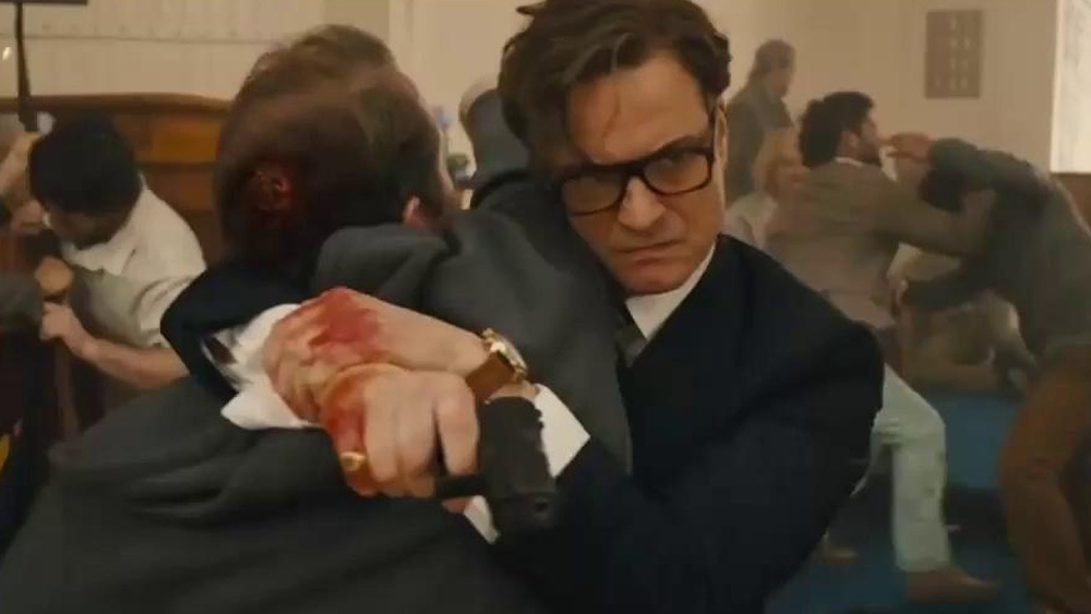 Kingsman The Secret Service Q A With: How That Brutal Church Scene Was Made In KINGSMAN