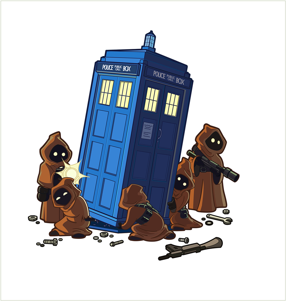 Hereu2019s an amusing piece of Star Wars and Doctor Who mashup fan art ...