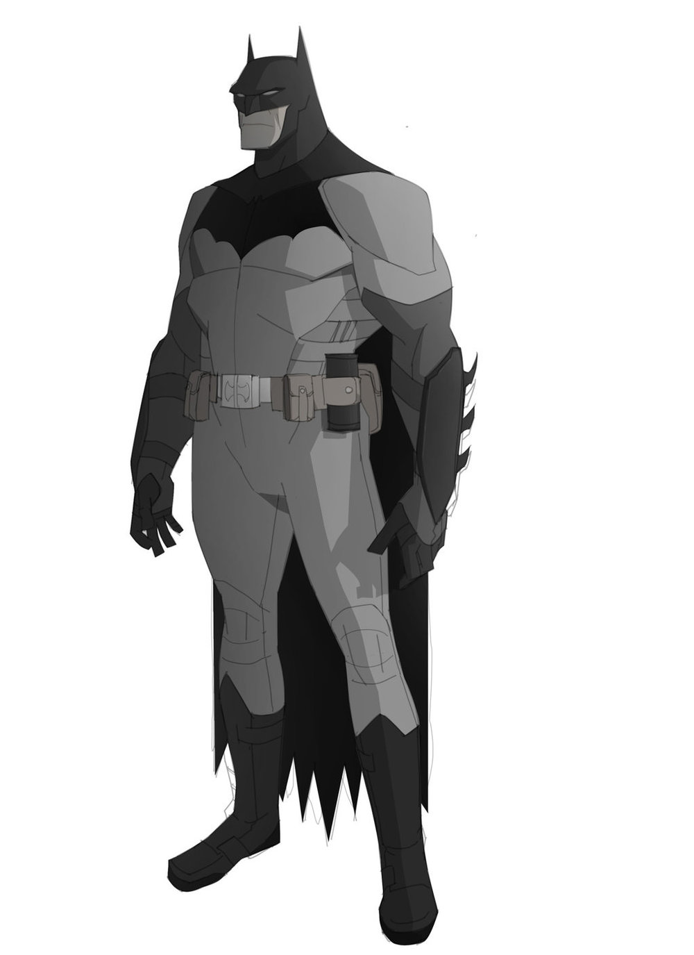 Character Design Vs Animation : Batman character design for cancelled quot dark as hell