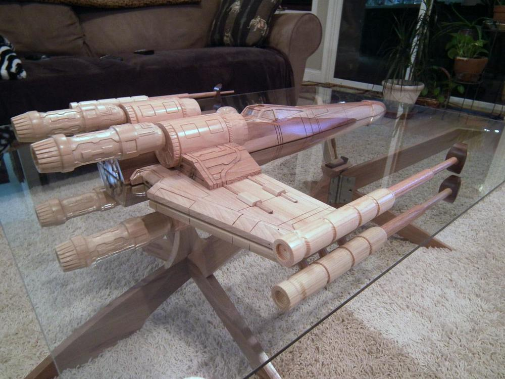 X Wing And Uss Enterprise Coffee Tables1 Design