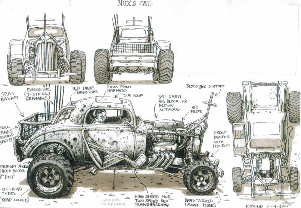 super rad mad max fury road concept art geektyrant. Black Bedroom Furniture Sets. Home Design Ideas