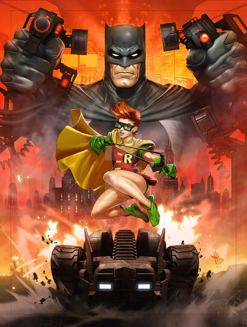 Homepage Full Post Featured: Explosive THE DARK KNIGHT RETURNS Art By Dave Wilkins