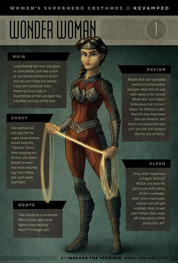 female superhero suit