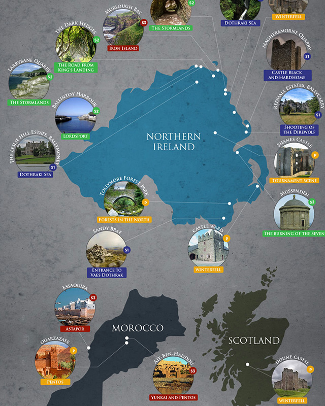 Game of thrones map of every filming location geektyrant gumiabroncs Image collections